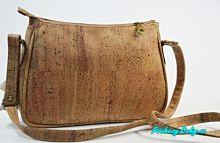 crossbody hnědá dámská korková kabelka, kabelka z korku Montado