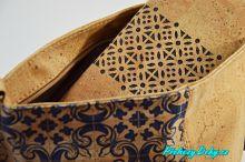 dámské modré korkové kabelky extravagantní kabelky Montado