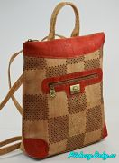 Červený dámský batoh Montado® korek