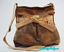 Hnědá dámská kabelka z korku Montado®
