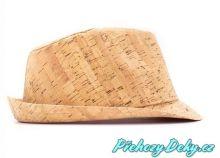 korkové pánské klobouky, pánský klobouk, fedora, klobouk fedora