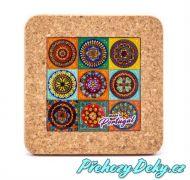 Keramický pivní tácek 10,5 x 10,5 cm