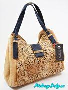 Luxusní korková kabelka Montado®  modrá