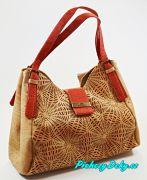 Luxusní červená kabelka Montado® z korku
