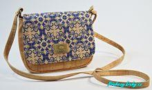 modrá korková kabelka přes rameno, modre damské kabelky Montado