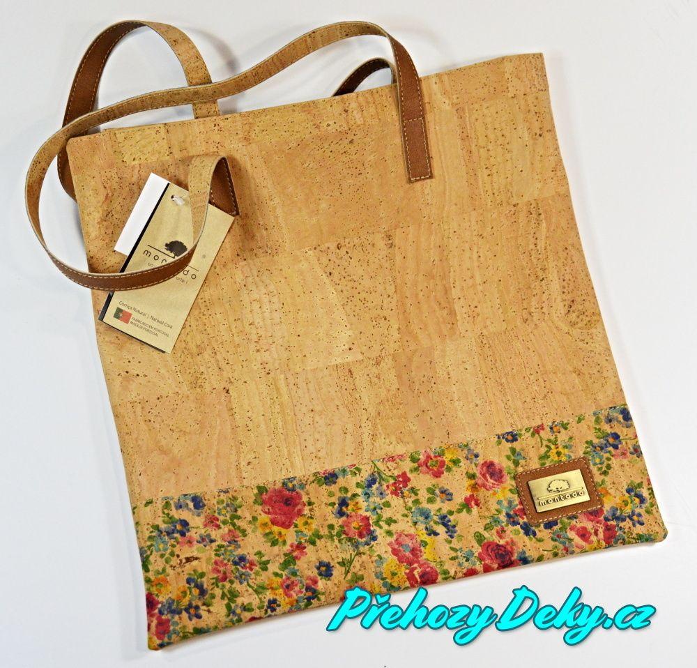 nákupní korková kabelka, originální kabelky a tašky Montado