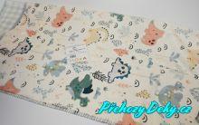 Dětská španělská deka do kočárku MORA® Lumpy multicolor 80x110cm