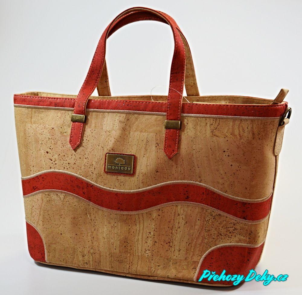 velké luxusní červené kabelky, originální ručně šité kabelky Montado